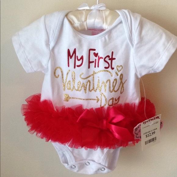 Popatu One Pieces Babys First Valentines Day Onesie With Tutu